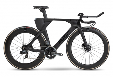 Vélo de Triathlon BMC Teammachine 01 Disc One Sram Force eTap AXS 12V Noir / Noir