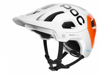 Casco MTB Poc Tectal Race Spin NFC Hydrogen White / Fluo Orange AVIP