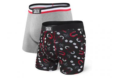 Boxers Saxx (Pack de 2) Vibe Gris Noir