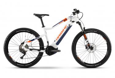 Haibike SDuro HardSeven 5.0 Elektro Hardtail MTB Shimano Deore 10S 500 Wh 27,5 '' Plus Weiß Orange Blau 2020