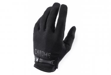 Long Gloves Chrome Cycling Gloves Black