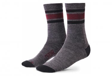 Chrome Merino Crew Socks Charcoal Andorra / Gray