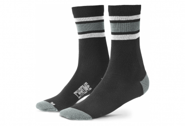 Socks Chrome Merino Crew Castle Rock / Black