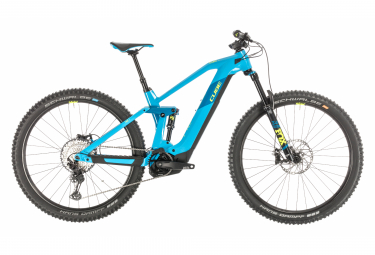 Cube Full Suspension Electric MTB Stereo Hybrid 140 HPC SL 625 Shimano SLX / XT 12s Blue / Yellow 2020