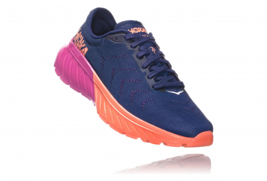 Hoka Mach 2 Blue Pink Orange Women