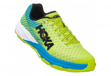 Chaussures de Running Hoka One One Evo Carbon Rocket Jaune / Bleu
