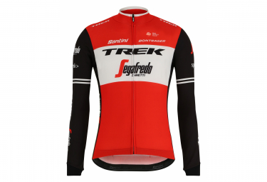 Santini Trek-Segafredo 2019 Long Sleeve Jersey Red Black White