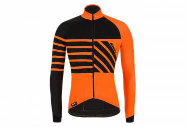 Santini Svolta Thermal Long Sleeve Jersey Orange Black