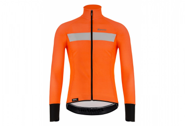Santini Vega H2O Water-Repellent Jacket Neon Orange