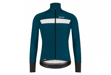 Santini Vega H2O Water-Repellent Jacket Teal Blue