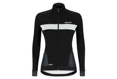 Santini Coral Women Water Resistant Thermal Jacket Black