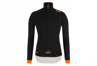 Santini Vega Multi Thermal Waterproof Windbreaker Jacket Black Orange