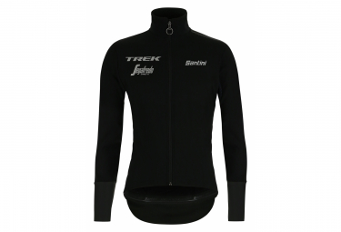 Santini Vega Xtreme Trek-Segafredo 2019 Thermal Waterproof Windbreaker Jacket Black