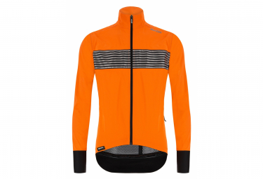 Santini Guard Mercurio Thermal Waterproof Windbreaker Jacket Orange