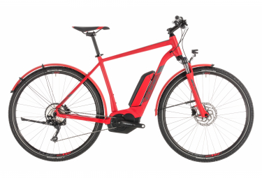 Cube Cross Hybrid Pro 400 E-bike  Rouge / Gris