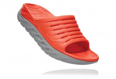 Hoka Ora Recovery Slide Red Grey Men
