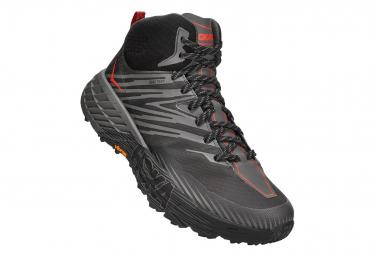 Chaussures de Trail Hoka One One Speedgoat Mid 2 GTX Noir / Gris