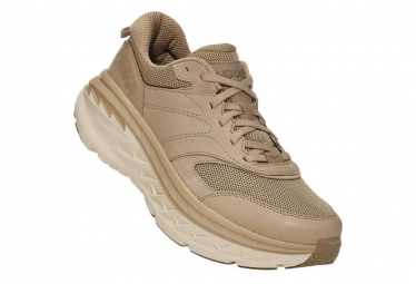 Chaussures de Running Hoka One One Bondi Leather Cuir Beige