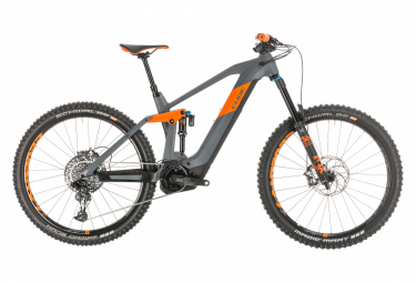 Cube Electric MTB Full Suspension Stereo Hybrid 160 HPC TM 625 Sram NX Eagle 12s Grey / Orange 2020