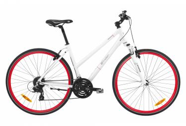Bicicleta Cicloturística Mujer BH Beartrack Jet Pro Blanc / Rouge