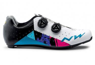 Zapatillas de carretera Northwave Revolution 2 blancas / azules