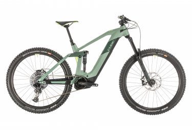 Cube Full Suspension Electric MTB Stereo Hybrid 160 HPC SL 625 Sram NX / SX Eagle 12s Green 2020