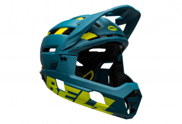 BELL Super Air R Mips Helmet Blue Yellow 2021