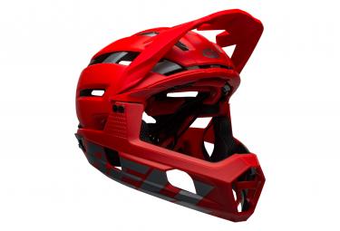 Casque avec Mentonnière Amovible BELL Super Air R Mips Rouge 2021