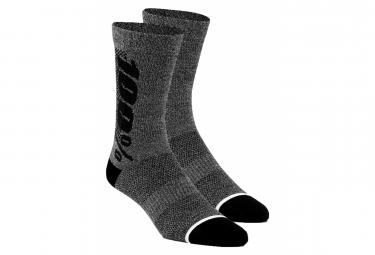 Paar Socken 100% RYTHYM Merinowolle Performance Grau