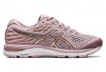 Chaussures Running Asics Gel Cumulus 21 Femme Rose Or