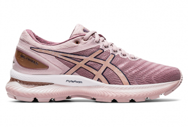 Chaussures Running Asics Gel Nimbus 22 Femme Rose Or