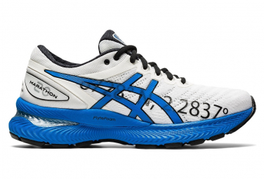 Asics Gel Nimbus 22 Marathon de Paris Women White Blue