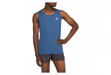 Asics Tank Men Silver Blue