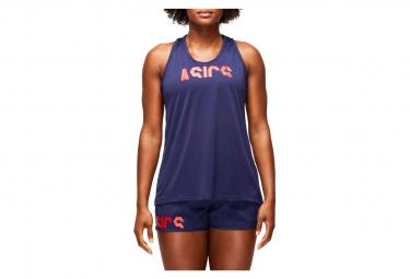 Asics Tank Retro Tokyo Running Women Blue Red