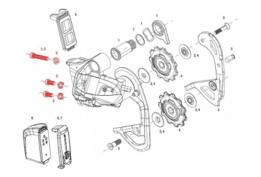 SRAM Red eTap Rear Derailleur Limit Screws