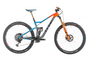 Cube Full Suspension Stereo 150 C:68 Actionteam 29 Shimano XTR  12s 27,5'' Grey / Blue / Orange 2019