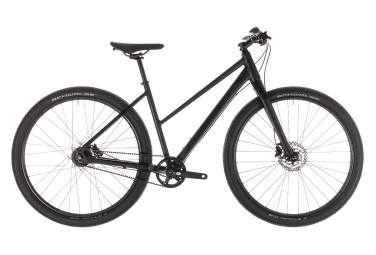 Cube Hyde Pro City Bike Shimano Alfine SL 8s Black/ Blue 2019