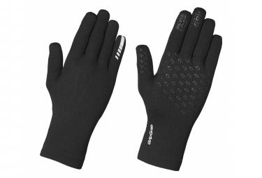 Paire de Gants Longs GripGrab Waterproof Knitted Thermal Noir