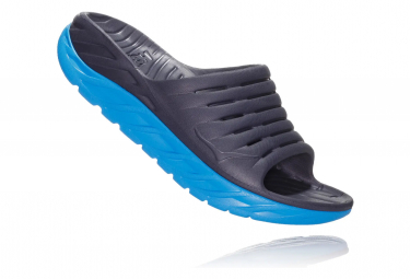 Hoka Ora Recovery Slide Black Blue