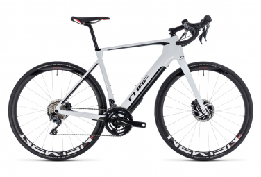 Cube Electric Road bike Agree Hybrid C:62 SL Disc Shimano Ultegra 11s White / Black 2019