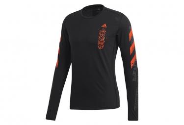 adidas Long Sleeves jersey Fast GFX Black Red Men