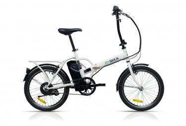 Vélo de ville pliant électrique RACER ESIXX 20'' Blanc