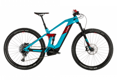 Cube Full Suspension Electric Stereo Hybrid 140 HPC Race 500 Sram NX/ SX Eagle 12s 29 Blue / Red 2020