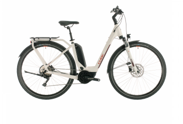 Bicicleta Ciudad Mujer Cube Touring Hybrid Pro 500 Gris / Rouge