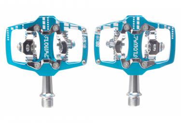 Paire de Pédales SB3 Flowy AM Auto Bleu