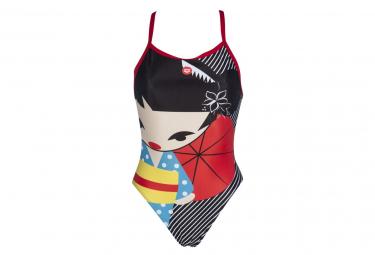 ARENA Swimsuit Women Crazy Kokeshi Lightech Black Red