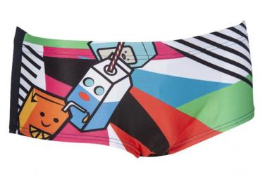 Men's Swim Shorts ARENA Crazy Milkshake Black Turquoise