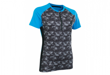 Maillot Mangas Cortas Mujer Ion Traze Amp Gris   Azul M