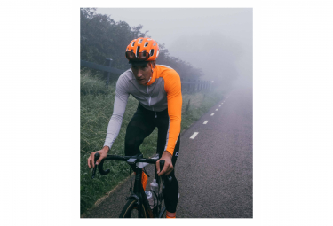 Maillot Manches Longues Poc Essential Road Mid Gris Granite / Orange Zink