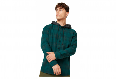 Oakley Icon Hooded Shirt Blue / Green